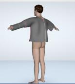 pannel tshirt back