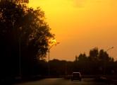 salento tramonto strada