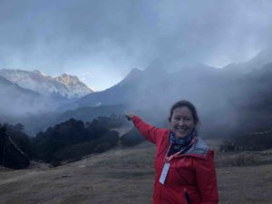 adventurer alice morrison runs round Everest