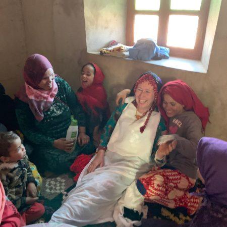 Alice Morrison with Amazigh Berber women
