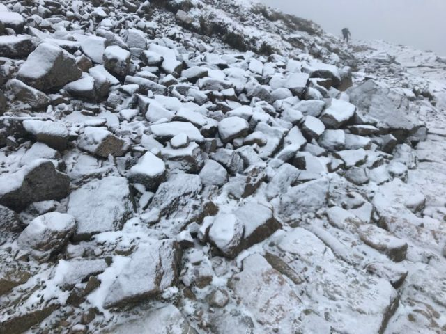 Climbing Ben Nevis in Winter