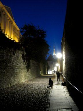 Toompea hill at night