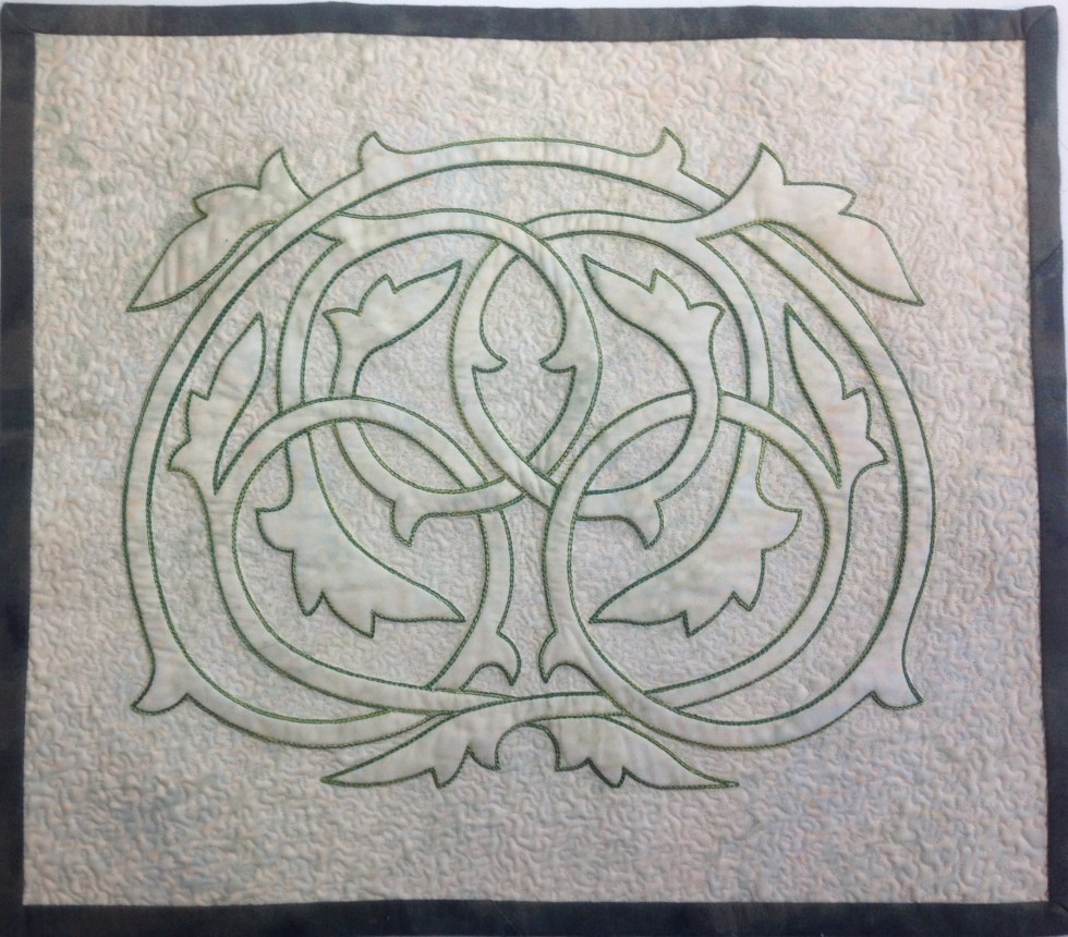 Machine Embroidered Celtic Knot