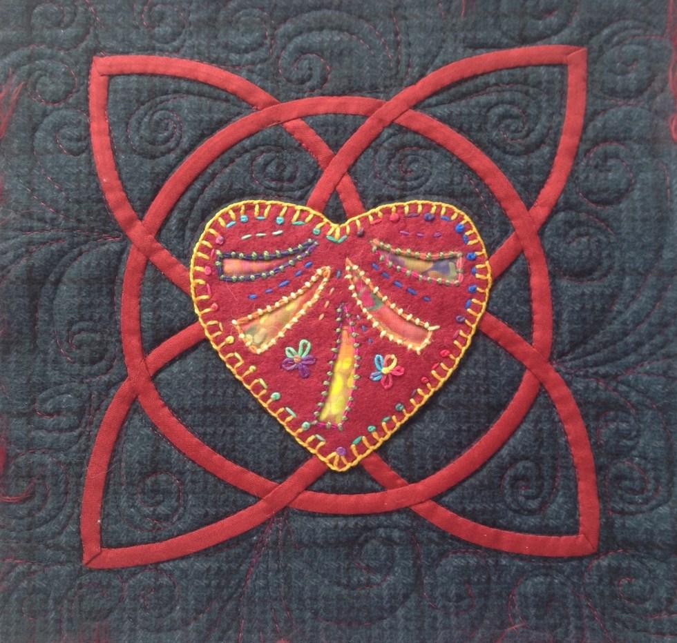 Red Celtic Heart