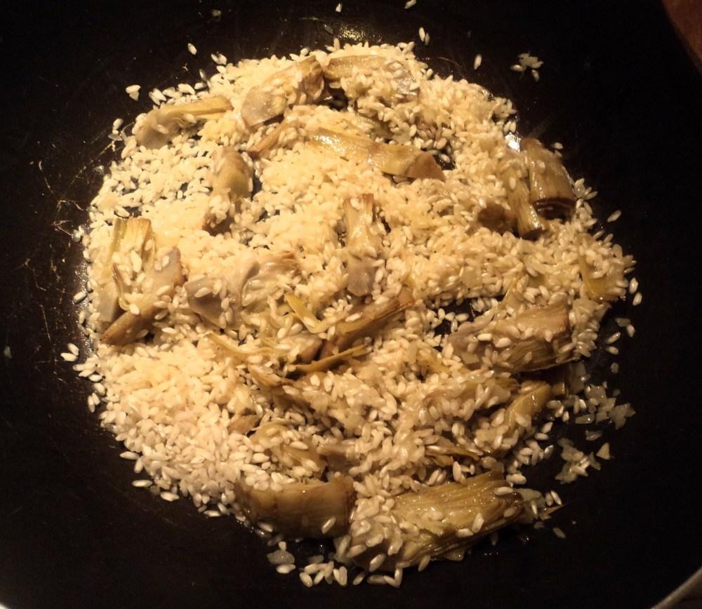 Risotto con carciofi al curry (1/3)