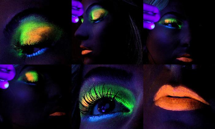 Como Fazer Maquiagem que brilha no escuro?