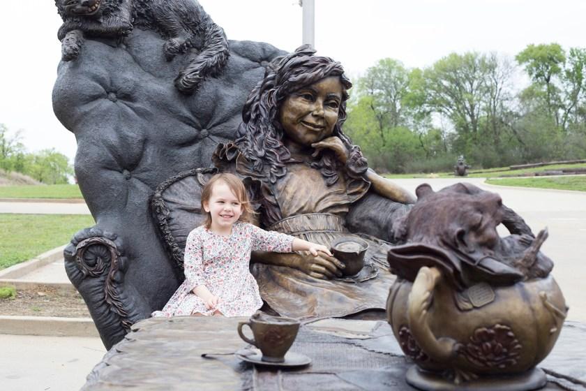 Alice In Wonderland Sculpture by Bridgette Mongeon