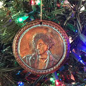 Lewis Carroll Christmas ornaments by Bridgette Mongeon