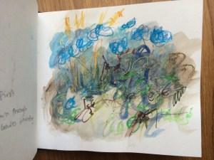 mixed media sketchbook page Alice Sheridan