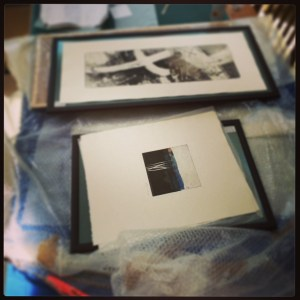 Framing etchings for Artists at Home, Alice Sheridan