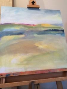 Alice Sheridan beginning of landscape painting