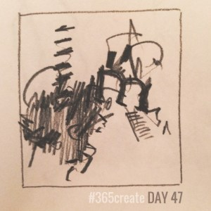 Alice Sheridan 365create small abstract drawing