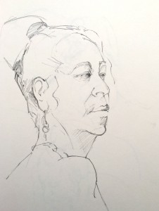 Alice Sheridan figure drawing study of turned head