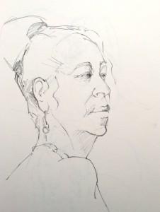 Alice Sheridan figure drawing study of turned head