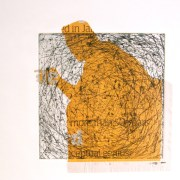Alice Sheridan 'Trappings IV' etching with chine collée
