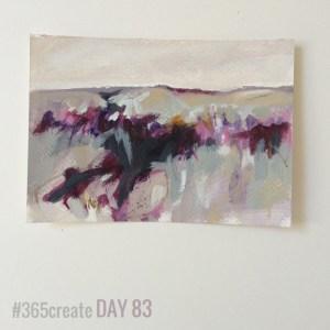 Alice Sheridan 365create aprilcolour abstract landscape painting postcard