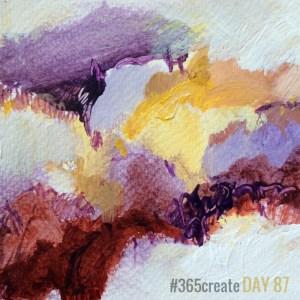 Alice Sheridan 365create aprilcolour abstract colour painting postcard
