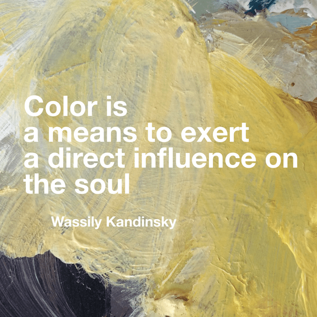 Kandinsky quote colour influence soul