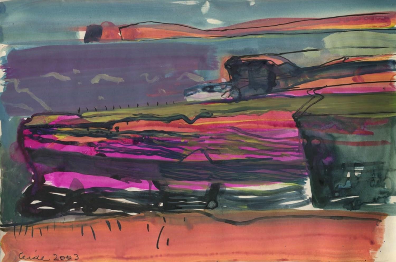 Barbara Rae sketchbook Ceide 2003