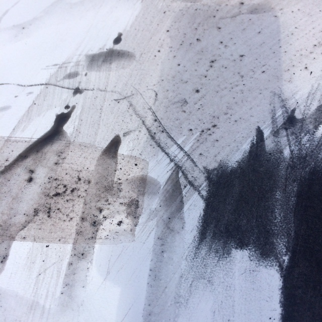 colour of bistre and charcoal