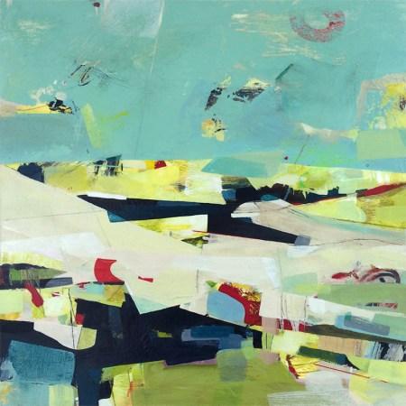 Geometric landscape painting by Alice Sheridan