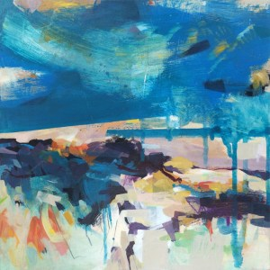 Blue sky abstract painting by Alice Sheridan