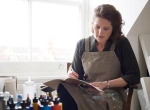 Alice Sheridan in London studio