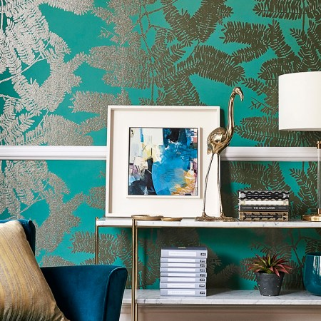 Alice Sheridan painting used in Harlequin wallpaper range