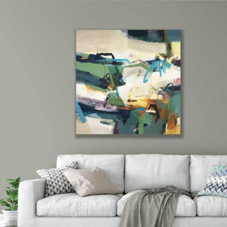 large abstract painting by Alice Sheridan Solar Master