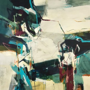 Abstract blue painting Alice Sheridan