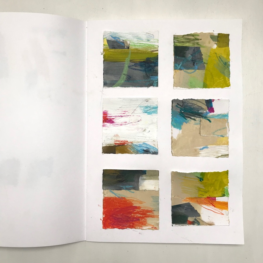 composition studies in Alice Sheridan sketchbook