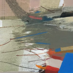 Close up of Alice Sheridan abstract painting