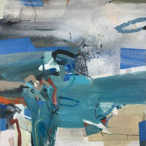Frosted by Alice Sheridan blue abstract painting