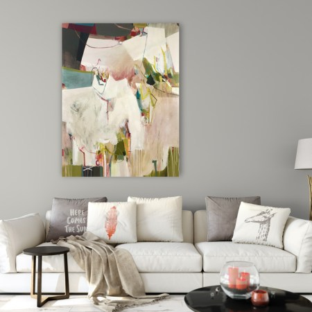 large abstract painting: Love Bug painting by Alice Sheridan