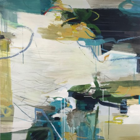 Free as a Bird large abstract painting Alice Sheridan