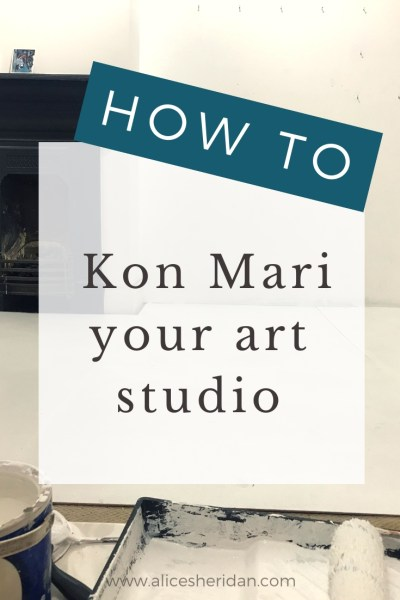 How to kon mari your art studio