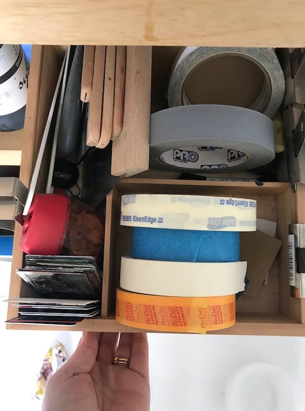 storage tips for art studio