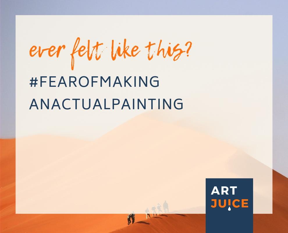 Art Juice podcast fear of making art