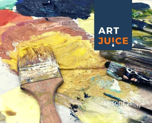 Art Juice podcast choosing colour for artists