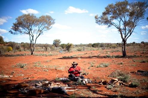 Kangaroo, Goana, and Emu hunting with Winston, Shane, and Bradley Stokes. Dinner at Winston Stokes' house with family.