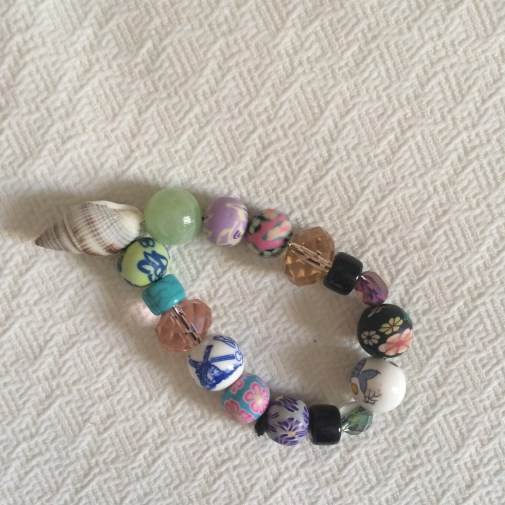 Bracelet made by my 7-year-old cousin :)