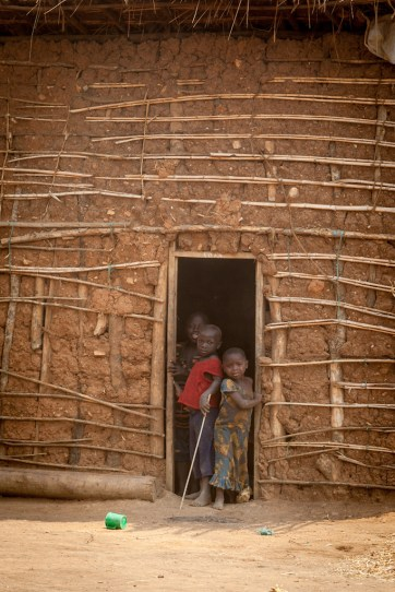 In the doorway-Congolese Refugees