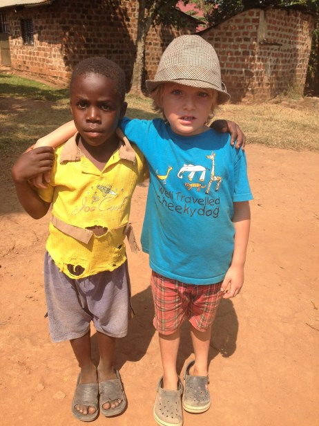 Best Mates Ronald and Felix. We are now sponsoring Ronald through school