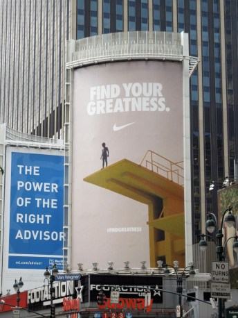 Nike find greatness billboard