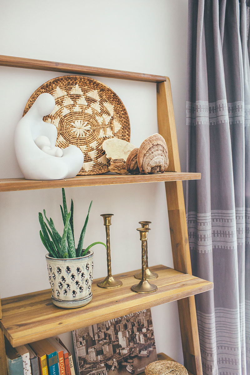 Bohemian Shelf Styling