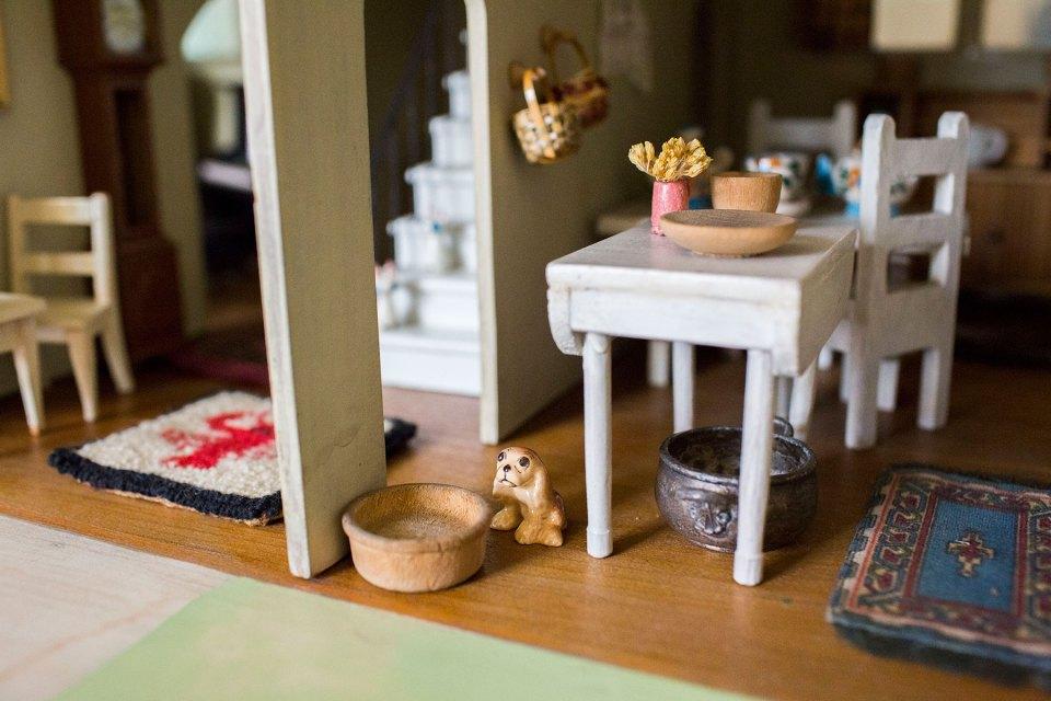 Antique 1930's Handmade Dollhouse