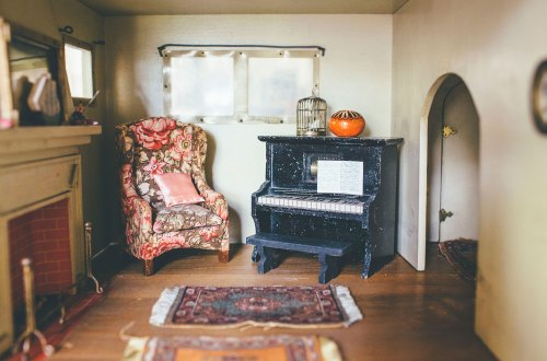 Antique Dollhouse Living Room