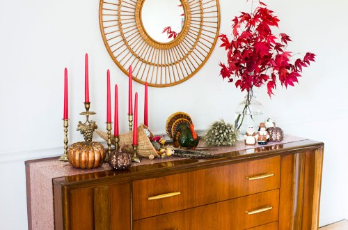 Eclectic Thanksgiving Dining Room Decor