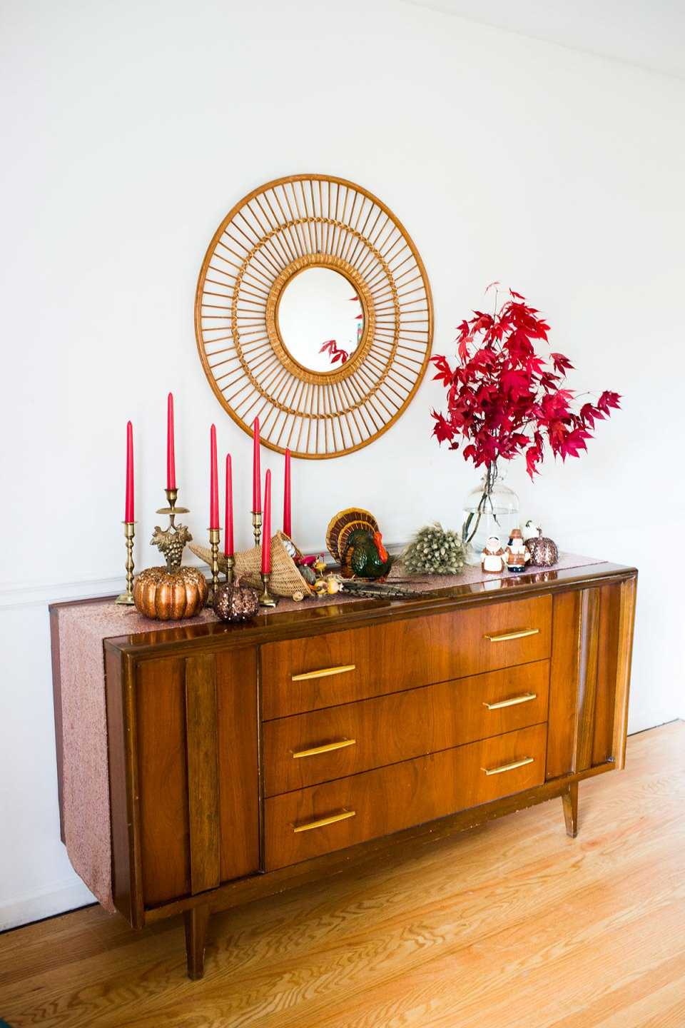 Eclectic Thanksgiving Dining Room Decor Buffet