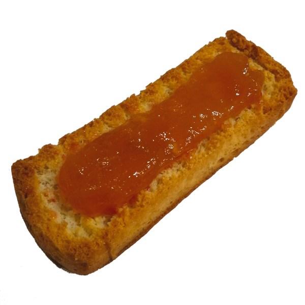 tostada mermelada melocotón Jerecitos